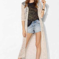 Staring At Stars Mesh-Stitch Maxi Cardigan-