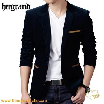HEE GRAND New Male Blazer Slim Fit