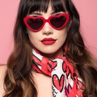 Cherry Red Cheryl Heart Sunglasses by Betty & Veronica - PRE-ORDER, SHIPS LATE JUNE