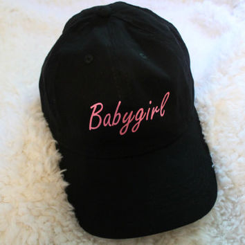 Babygirl Black Baseball Hat