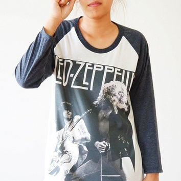 S, M, L -- Led Zeppelin Shirts Hard Rock Shirts Heavy Metal Shirts Baseball Shirts Jersey Raglan Tee Long Sleeve Unisex Shirts Women Shirts