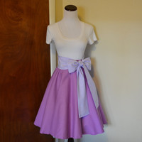 Disney's Tangled Rapunzel Inspired Orchid Purple Circle Swing Skirt and Sash