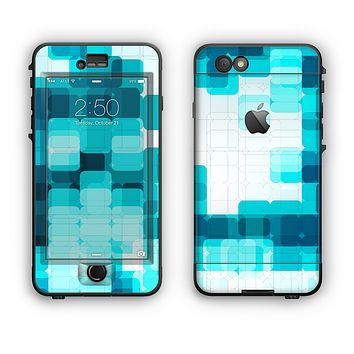 The Vibrant Blue HD Blocks Apple iPhone 6 Plus LifeProof Nuud Case Skin Set