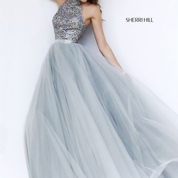 Sherri Hill 11316 Jeweled Halter Ball Gown