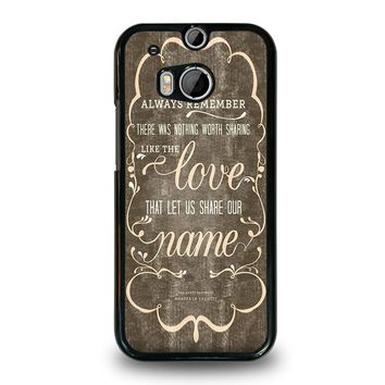 THE AVETT BROTHERS QUOTES  HTC One M8 Case Cover