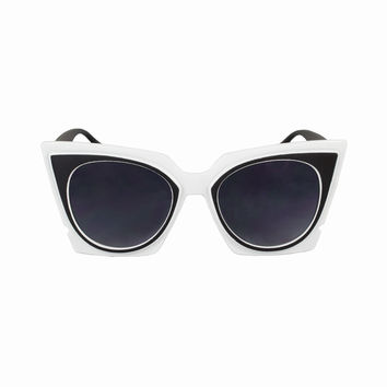 Cat Eye Mirrored Lens Aria Sunnies