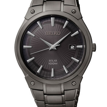 Seiko Solar SNE325 Men's Black Dress Watch