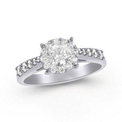 1-1/3 CT. T.W. Endless Diamond?- Engagement Ring in 14K White Gold - View All - Zales