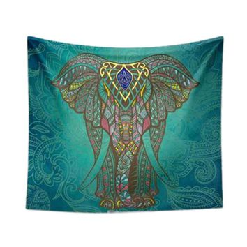 Home textile polyester bedding elephant tapestry wall hangings carpet carpets Home decoration for bedroom living room Yoga mat