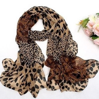 Vintage Beautiful Leopard Print Women Scarf = 1958052036