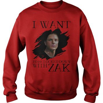 I Want Be Locked Down With Zak Bagans Ghost Adventures Shirt Sweat Shirt