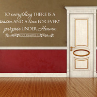 Spiritual Wall Decal. To Everything There Is Season CODE 151