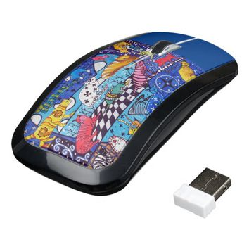 Cat Cocktail Colourful Cat Design Wireless Mouse