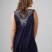Vest with Crochet Back | Lane Bryant