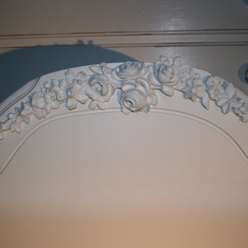 Large Rose Swag Furniture applique / chic furniture appliques / onlays / romantic cottage / shabby chic / DIY / home decorating