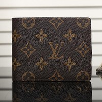 Perfect LV Man Leather Purse Wallet