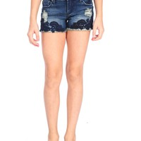 Tractr Lace Applique Short
