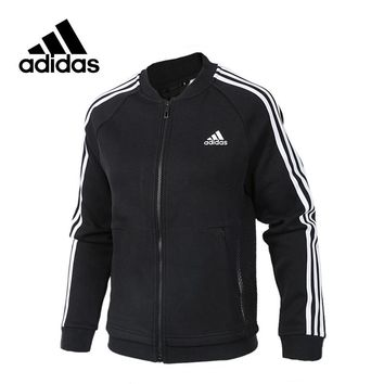 New Arrival Authentic Adidas JKT KN BOMBER 3 Women's Breathable jacket Sportswear