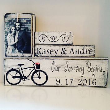 Personalized Wedding gift for couple  | Bridal Shower Gift | Rustic Wedding Decor | Engagement Gift | Anniversary gift | reception decor 1