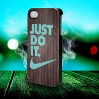 Wood - NIKE - Just Do It - for iPhone 4/4s, iPhone 5/5S/5C, Samsung S3 i9300, Samsung S4 i9500 Hard Case