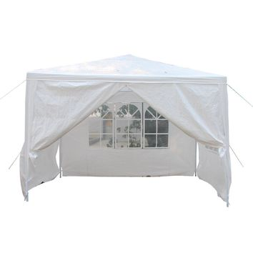 Walls Outdoor Canopy Party Wedding Tent Heavy duty Gazebo Awnings NEW 10'x10' 4