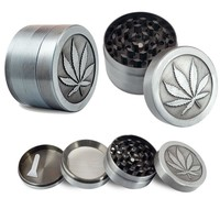 Tobacco Grinder Cigar Metal Stainless Steel Coin Shape Pattern Herbal Herb Tobacco Grinder Smoke Smoking Cigar Magnetic D0782