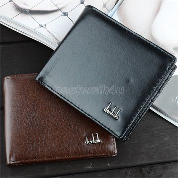 Men's Synthetic Leather Wallet Money Pockets Credit/ID Cards Holder Purse 2 Colors SV000195