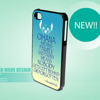 Ohana Means Family Lilo And Stitch  Custom case for iPhone 4 case, iPhone 5 case, samsung galaxy s3 and Samsung galaxy s4