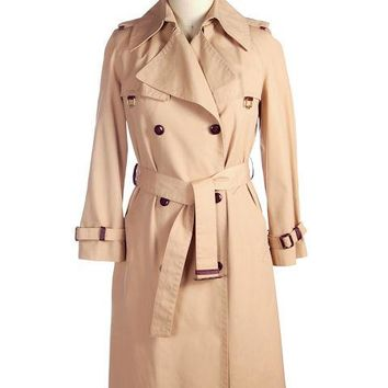 Vintage Etienne Aigner Trench Coat 1970s Size 38 Bust