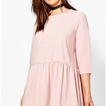 Frill Bottom Shift Dress