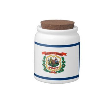 West Virginia Flag Candy Jar