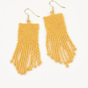 Ink + Alloy | SEED BEAD EARRING WITH FRINGE | MULTIPLE COLORS