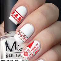 Merry Christmas nail decal