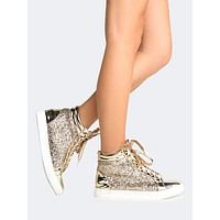 Sparkly Gold Sneaker