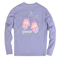 Nordic Mittens Long Sleeve Tee in Sweet Lavender by The Southern Shirt Co. - FINAL SALE