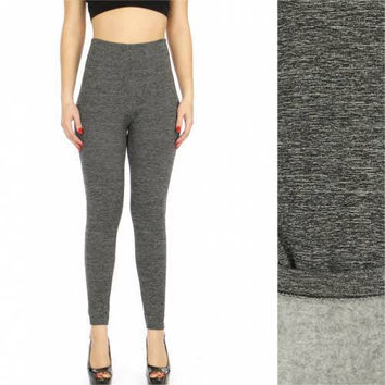 Thermal marled leggings Charcoal One size Fits S-L