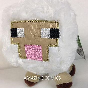 """Minecraft BABY SHEEP 7"""" Scale Plush Officially Licensed  by Jazwares - BRAND NEW"""