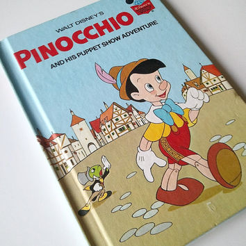 Vintage Children's Book  Walt Disney's Pinocchio by ItchforKitsch