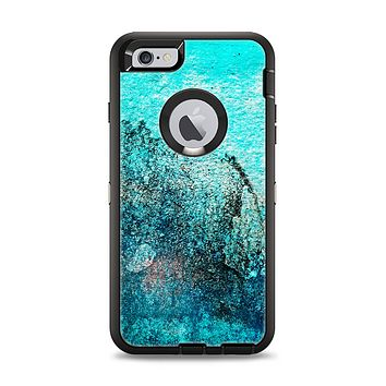 The Grungy Teal Surface V3 Apple iPhone 6 Plus Otterbox Defender Case Skin Set