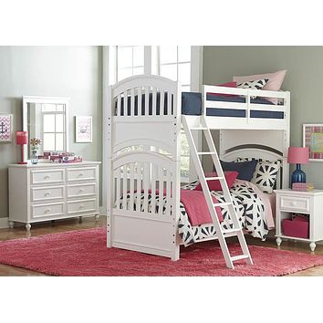 5811 Academy White - Complete Dresser With Mirror