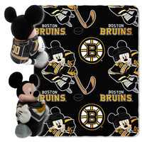 Boston Bruins NHL Mickey Mouse with Throw Combo