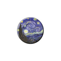 Starry Night by Vincent Van Gogh Lapel Hat Pin Tie Tack Small Round