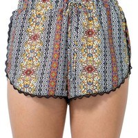 Bohemian Crochet Trim Short