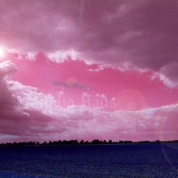 Enchanted Eye - 8x10 - Surreal, Abstract, Impressionism, Pink, Fuschia, Purple Landscape, Clouds - Fine Art Photography Print