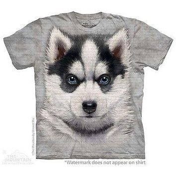 Big Face Siberian Husky Puppy T-Shirt