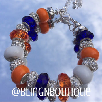 Spirit Bracelet - Orange/White/Blue