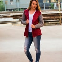 Sounds So Good Jacket- Burgundy