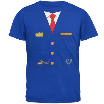 Halloween Train Conductor Costume Royal Adult T-Shirt