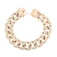 Mens Miami Cuban Bracelet Rose Gold Finish 18 MM Thick 9.0 IN
