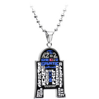 "22"" Officially Licensed Star Wars R2-D2 Lobster Claw Chain Necklace"